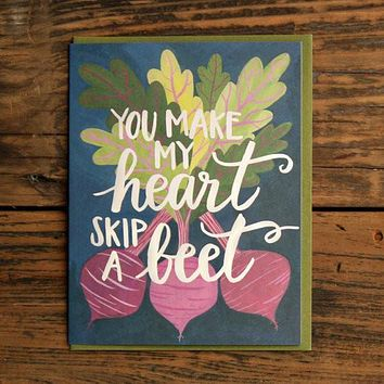 Heart Skips a Beet Card