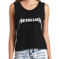 Metallica Graphic Muscle Tee by Charlotte Russe - Black