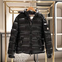Moncler Warm Winter Down Jacket Windproof Hooded Collar Women's men Parka Male Big Coat Smart Casual Covered Button