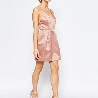 True Decadence | True Decadence Mini Prom Dress With Cami Strap Detail at ASOS