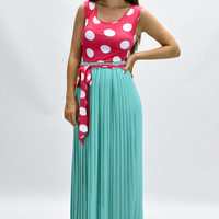 Summer Parlor Polka Dot Maxi Dress