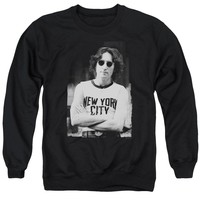 John Lennon - New York Adult Crewneck Sweatshirt