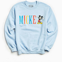Mickey Mouse Hold On Crew Neck Sweatshirt | Urban Outfitters