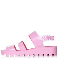 POPPY Wedge Jelly Sandals by JuJu - Pink