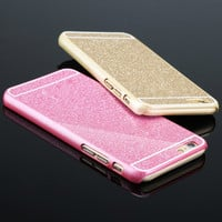Sale i6/6 Plus Phone Cases ! Sparkling back Cover For Apple iphone 6 4.7''/6 Plus 5.5'' Cute Candy color Shinning Hard Case Hot