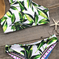 Cupshe Sip on Sunshine Printing Tank Bikini Set