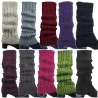 Knitted Crochet Socks Leg Boots Warmer Cover Leggings