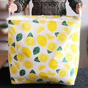 Household Oversized Foldable Drawstring Drawstring Closing Clothes Quilt Bag Square Dirty Clothes Hamper Storage Box Storage Basket
