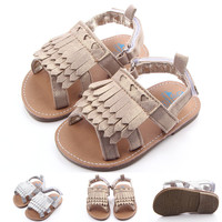 2016 New High Quality Baby Girls Moccasins Baby First Walker Fringe Summer Shoes for Girls