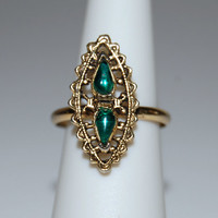 Vintage 1960's Green Vogue Ring