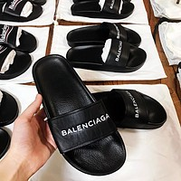 Balenciaga : Casual Fashion Women Floral Print Sandal Slipper Shoes