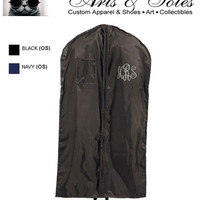 Personalized Embroidered Monograms Garment Bag by Arts and Soles