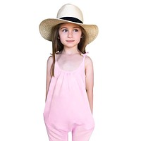 Baby Girls Kids Clothes Toddler Loose Jumpsuit Romper Outfits Tiny Toddler Trousers Cotton Overalls For Children