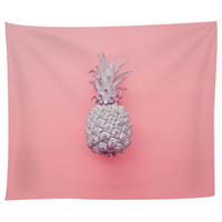 Tiny Pink Pineapple Tapestry