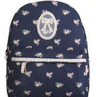 Lace Floral Bowknot Backpack