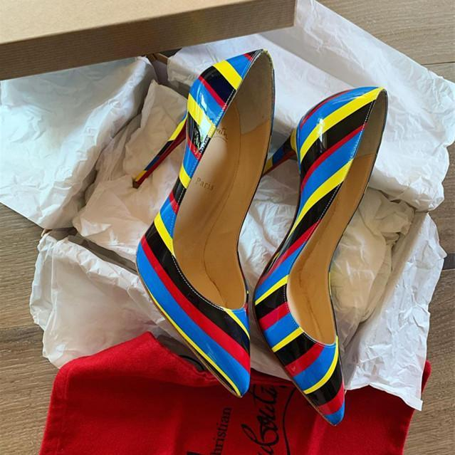 Image of Christian Louboutin 2021 New pointed high heels
