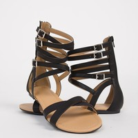 Criss Cross Strapped Sandals