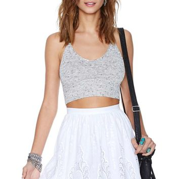 Nasty Gal Point Blank Skater Skirt