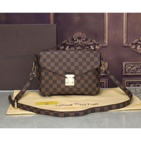 """LV"" Louis Vuitton Women's Fashion Printed Vintage Crossbody Shoulder Bags Small Square Bag Tote 3#"