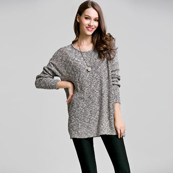 Knit Tops Batwing Sleeve Korean Sweater [9010374982]