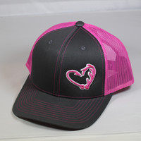 Grey and Pink Hunters/Fishing Hat in a Heart Limited Edition