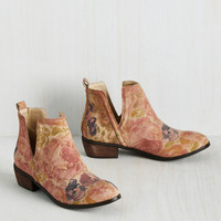 Romantic Amble Bootie in Sunlit Roses