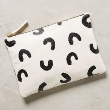 Clare V. Francis Pouch in Black & White Size: One Size Clutches