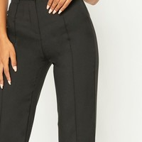 Anala Black High Waisted Straight Leg Pants