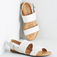 ModCloth Ooh Baby It's a Wild Wharf Sandal in White