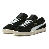 Puma Crack Heritage Black White Suede 365886 03 Mens Casual Sneakers