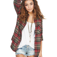 Boyfriend Plaid Flannel Shirt | Wet Seal