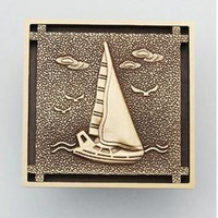 Antique Copper Anti-Odor Square Sailing Boat Bathroom Accessories Sink Floor Shower Drain Cover Luxury Sewer Filter K-8858