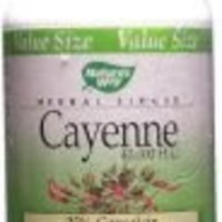 Nature's Way Cayenne Pepper, 450 mg, 180 Capsules (Pack of 2)