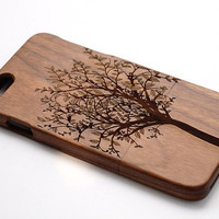 Tree case life tree Carving wood case Wood iPhone 6 case, waves of the sea iphone 6plus wood case, iphone 5 case, iphone 5c case,iphone 4 case