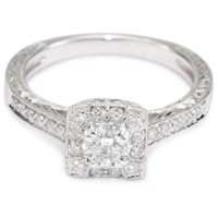"Kobelli ""Je t'aime"" Round Diamond Engagement Ring ( 3/4 cttw, HI/I1-I2)"