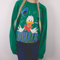 Vintage California Disney Donald Duck Crew Neck Sweatshirt