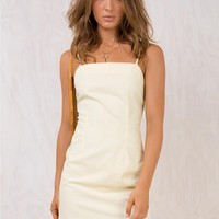 Pickett Lane Mini Dress Lemon