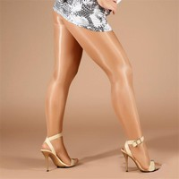 70D New Fashion Women Girls 2 Color Tights Lady Sexy Smooth satin shiny SHAPING oil stockings Female High Quality Pantyhose