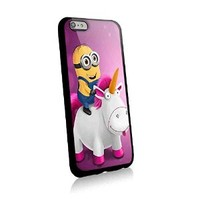 Minion Unicorn in Pink for Iphone and Samsung Galaxy Case (iphone 6 plus black)