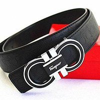 Ferragamo Adjustable Belt Black