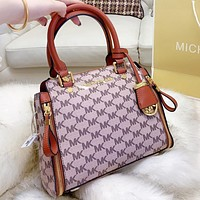 MK Michael kors New fashion more letter leather shoulder bag crossbody bag handbag women Brown