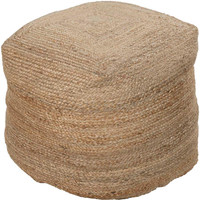 Braided Jute Hand Made Pouf - Home Accents   Surya