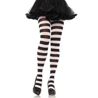 Wide Striped Tights