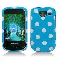 Aimo SAMU380PCPD303 Cute Polka Dot Hard Snap-On Protective Case for Samsung Brightside U380 - Retail Packaging - Red/White