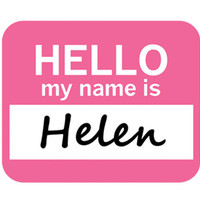 Helen Hello My Name Is Mouse Pad