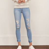 Low Rise Ankle Super Skinny Jeans