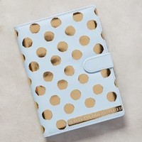 Golden Dotted Planner by Anthropologie in Sky Size: One Size Books
