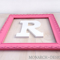 11x14 Large Pink Frame Ornate Shabby Chic Nursery Decor Wall Letters
