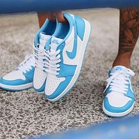 Air Jordan 1 Low X Dunk SB AJ1 Popular Women Men Casual Sport Shoes Sneakers Blue&White
