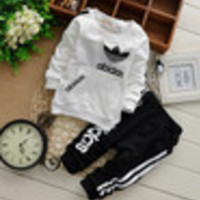 2014 children's clothing baby boy girl boy suits two-piece suits cotton clothing for children - Default